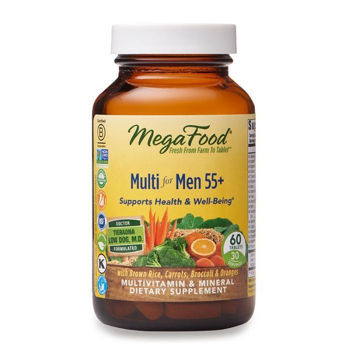 MegaFood Multi for Men 55+, 60tab