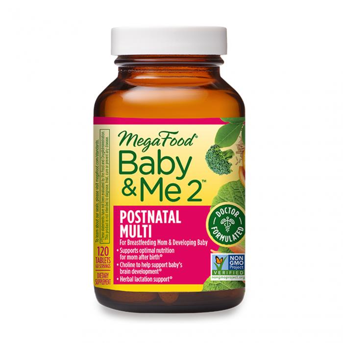 MegaFood Baby & Me 2 Postnatal Multi 120tab
