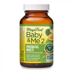 MegaFood Baby & Me 2 Prenatal Multi 120tabl