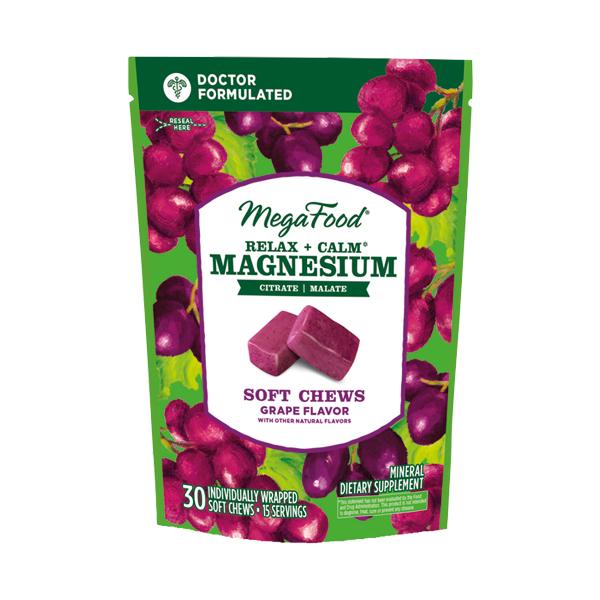MegaFood Magnesium Relax+Calm Soft Chews 30tabl