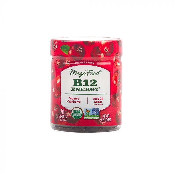 Megafood B12 Energy Cranberry Gummies 90tab