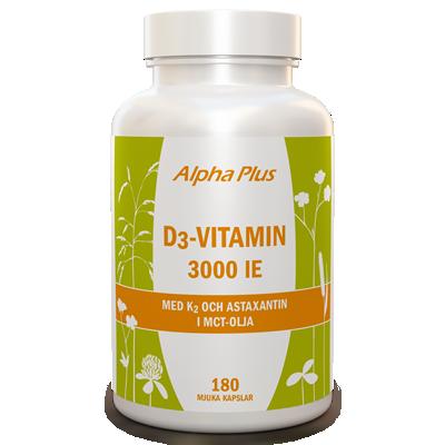 Alpha Plus D3-vitamin 3000IE+K2 180kap